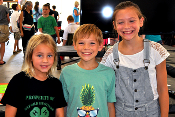 Three 4-H youth from county fair