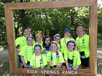 4-H youth at camp