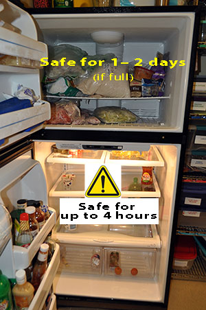 Refirgerator and food safety during power outage