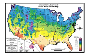 Cold Hardiness Maps Only Show Half The Picture. Heat Zone Map